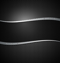 Abstract metal black design background vector image vector image