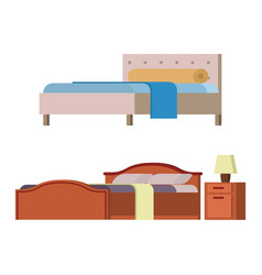bed icon set interior home rest collection vector image
