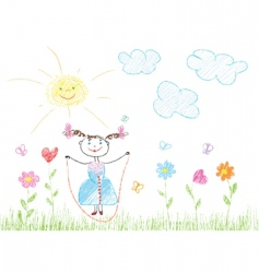 childish joy vector image