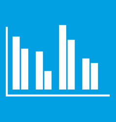 financial analysis chart icon white vector image vector image