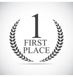 First Place Laurel Design Label vector image vector image