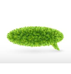 foliage bubble vector image vector image