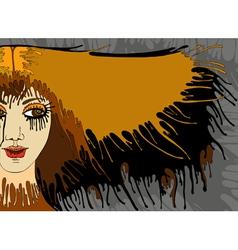 Girl Face Hair Banner vector image