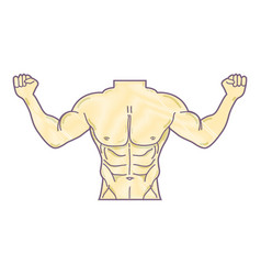 Man toned body fitness vector