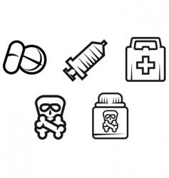 medicine symbols vector image vector image