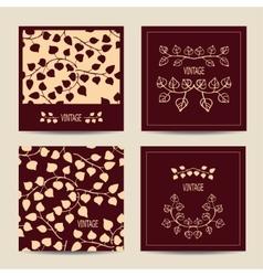 Set of cards with vintage design vector image