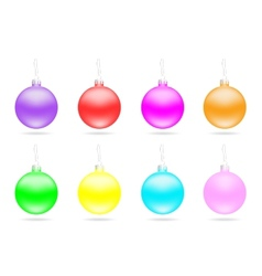 Set of multi-colored Christmas balls vector image