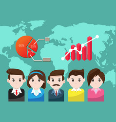 business people for teamwork success vector image