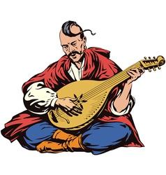 Cossack musician vector
