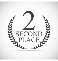 Second Place Laurel Design Label vector image