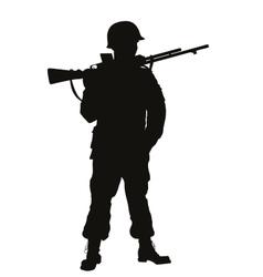 Ww2 soldier warriors theme vector