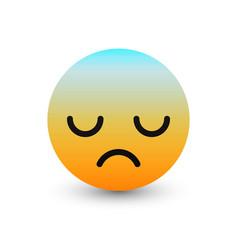 3d emoticon icon design vector image