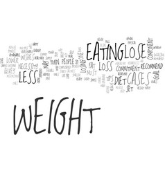 A few simple tips to lose weight text word cloud vector