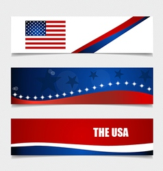 American Flag Flags concept design vector