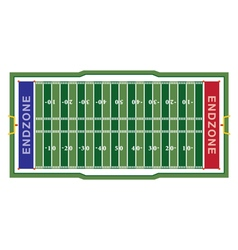 American Football Aerial Field vector