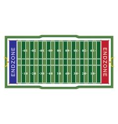 American football aerial field vector
