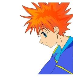 Anime boy vector