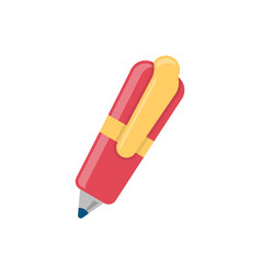 ball pen flat icon vector image