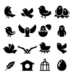 bird silhouette icon vector image