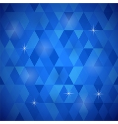 Blue geometric retro mosaic pattern vector