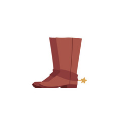 brown cowboy boots with spurs isolated on white vector image