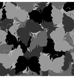 Butterfly camouflage seamless pattern vector