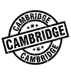 Cambridge black round grunge stamp vector