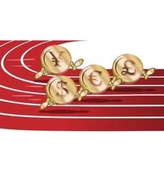 Cartoon running coins vector