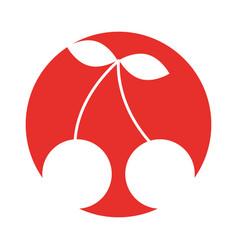 Cherry fruit isolated icon vector