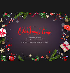 christmas festive elements vector image