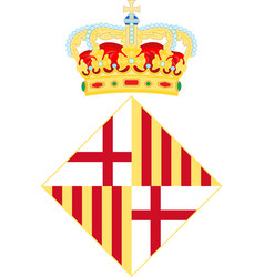 Coat of arms of barcelona in spain vector