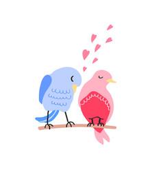Colorful cute couple birds vector