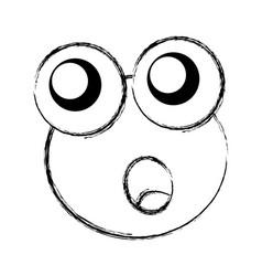comic frog character icon vector image