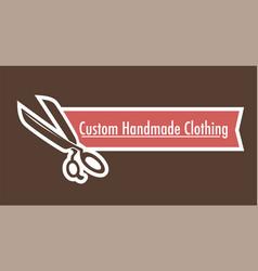 Custom handmade clothes logo tailoring shop vector