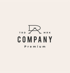 Da ad letter mark initial hipster vintage logo vector