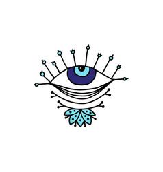 Decorative element evil eye talisman cartoon vector