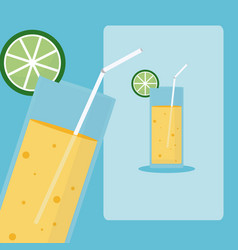Delicious and fresh drink vector