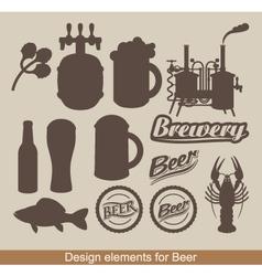 Design of beer vector