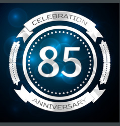 Eighty five years anniversary celebration with vector