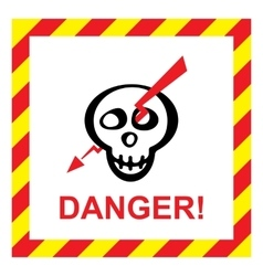 electric shock risk sign vector image
