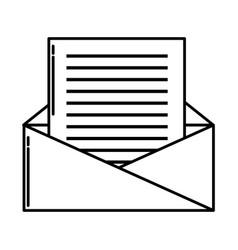 envelope open symbol vector image
