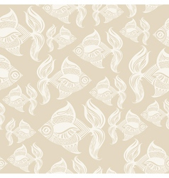 Fish pattern monochrome vector