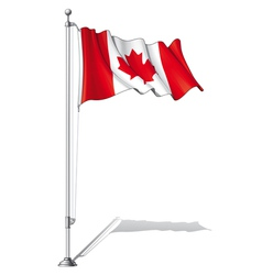 Flag Pole Canada vector image