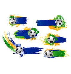Football soccer ball icons or banners vector