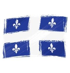Grunge Quebec flag vector