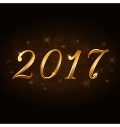 Happy New Year background gold 2017 vector