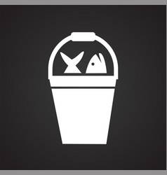Haul icon on black background for graphic and web vector