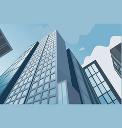 High skyscrapers on a background of the blue sky vector
