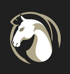 horse head sign vector image
