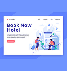 hotel booking website mobile app for tourists and vector image